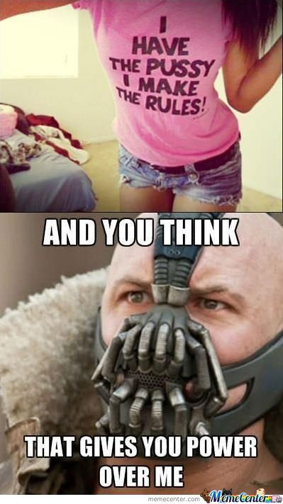 Bane Makes The Rules... End Of!