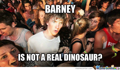 Barney Is Not A Real Dinosaur?