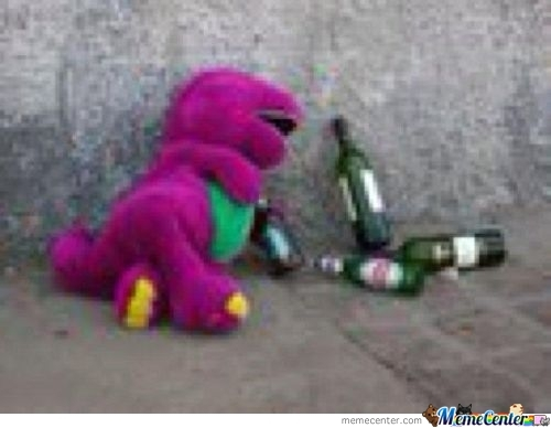 Barney Was The Hang Out Last Night