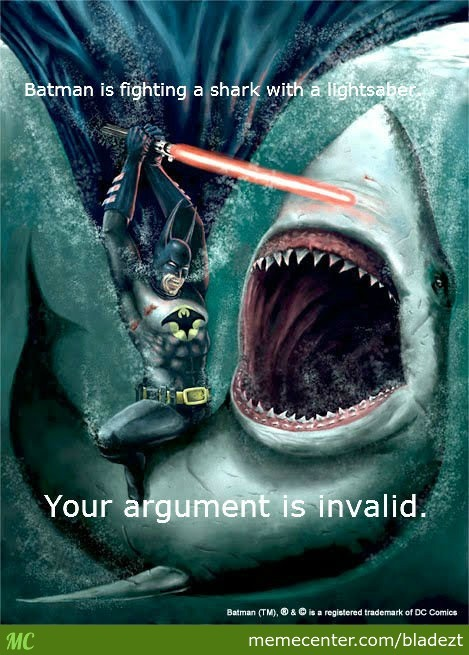 Batman Fighting A Huge Shark.