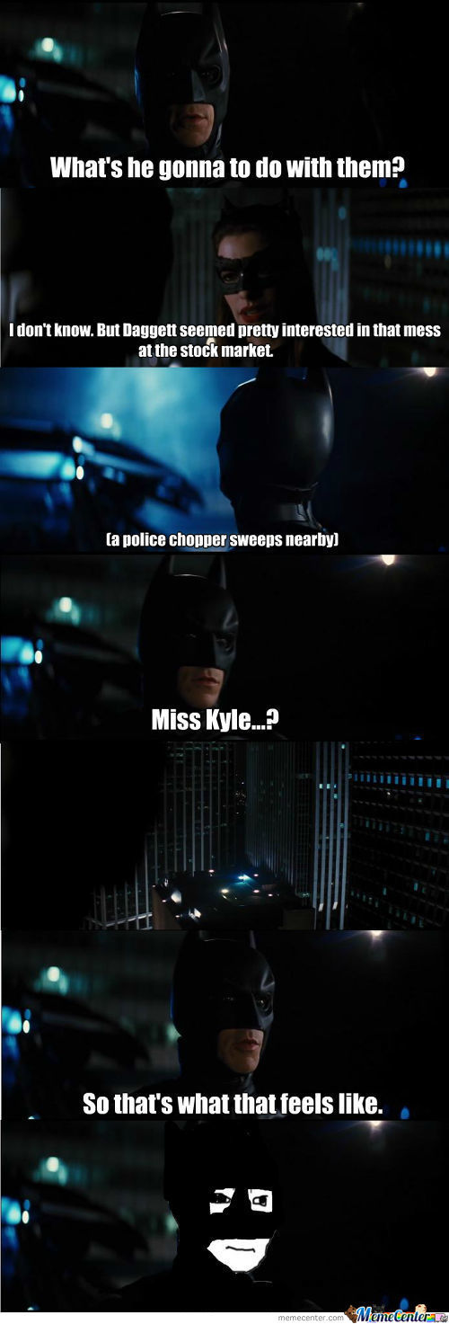 Batman Knows That Feel Now