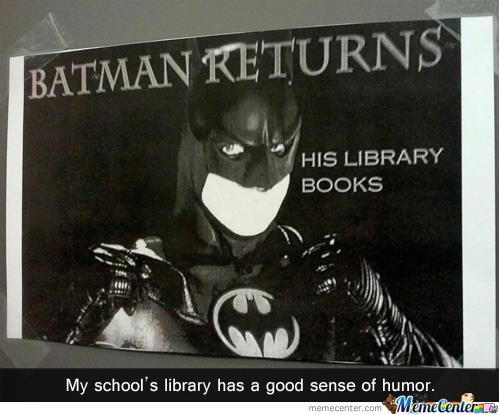 Batman Returns...his Library Books!!!