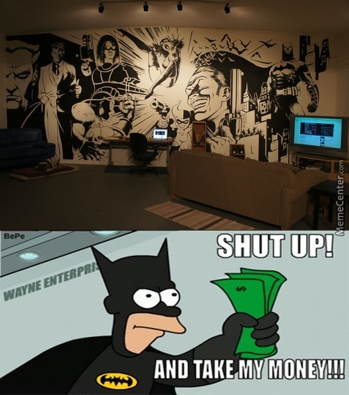 Batman Theme Wall