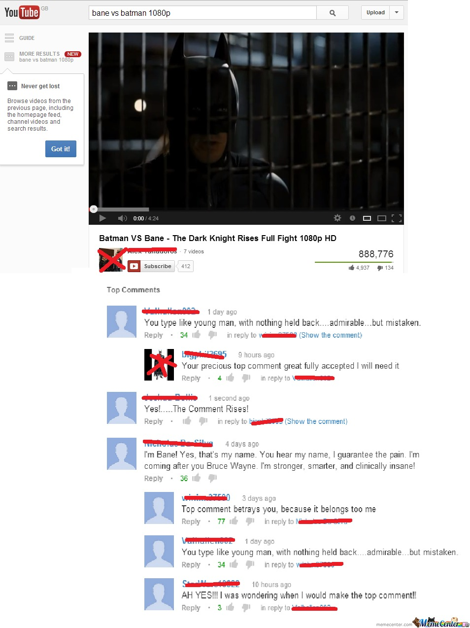 Batman: Top Comments Win.