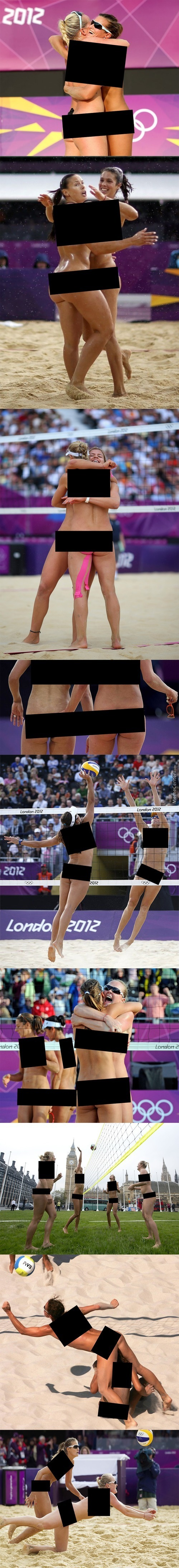 Beach Volleyball + Unnecessary Censorship = Hue Hue Hue