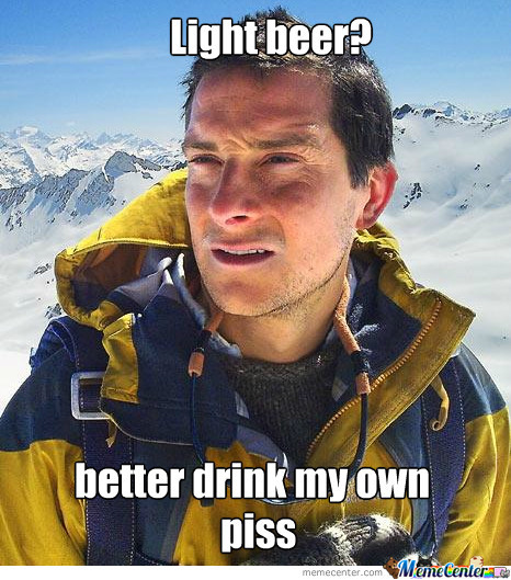 Bear Grylls And Light Beer
