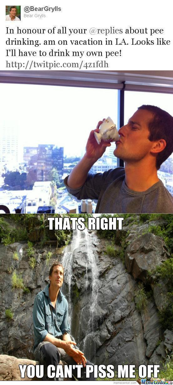 Bear Grylls Doesn't Give A Piss