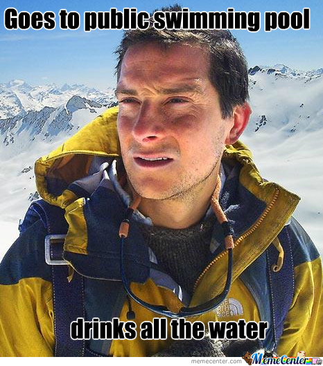 Bear Grylls In The Pool