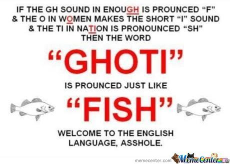 Because English Thats Why