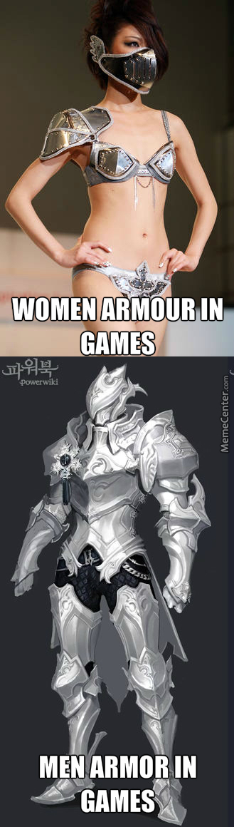 Because Men Tend To Have More Weakness.. So They Need More Armour For Protection
