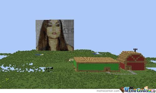 Behold! Sasha Grey In Minecraft (Squint Eyes For Better View)