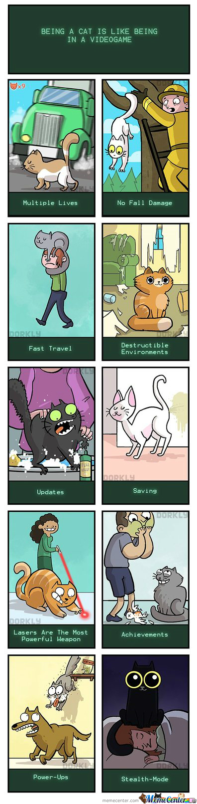 Being A Cat Is Like Being In A Video Game (Dorkly)