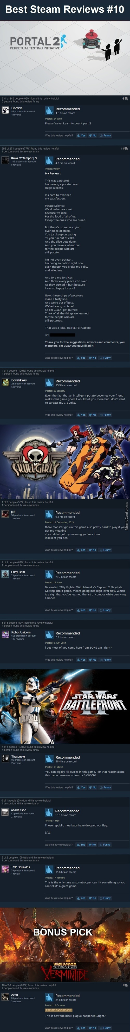 Best Steam Reviews #10 - I'm Actually Running Out Of Good Reviews