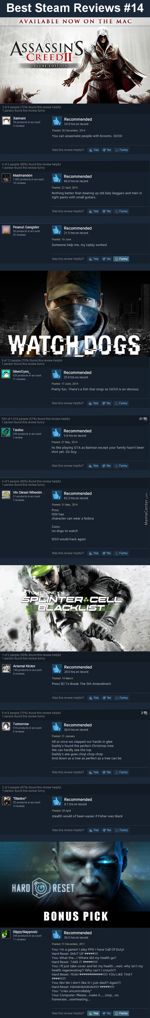 Best Steam Reviews #14 - Udon'tplay