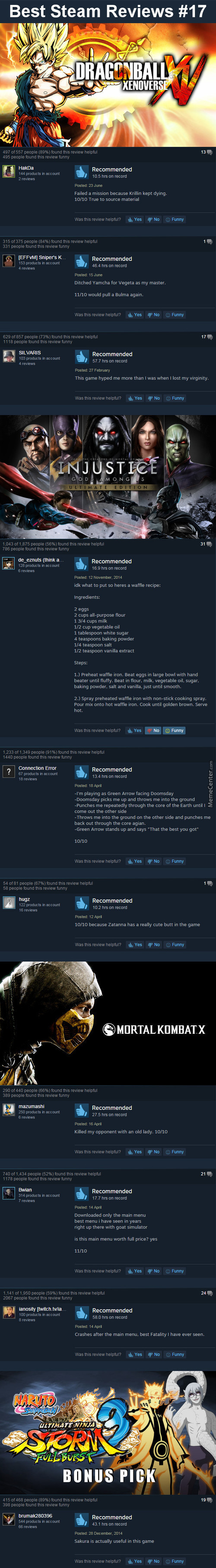 "Best Steam Reviews #17 - The ""vydia Causes Violence"" Edition"