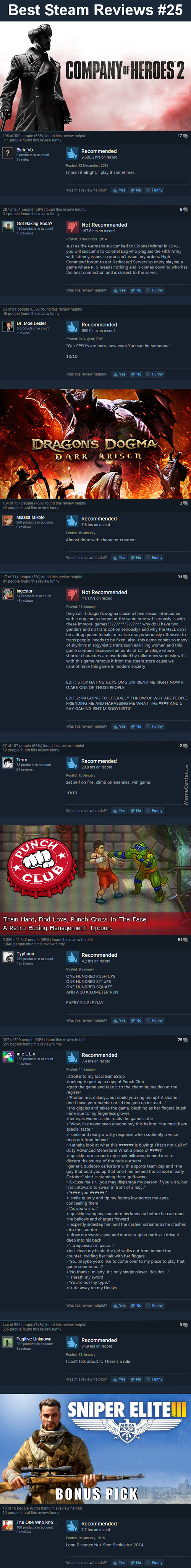 Best Steam Reviews #25 - I Found Tumblr On Steam!
