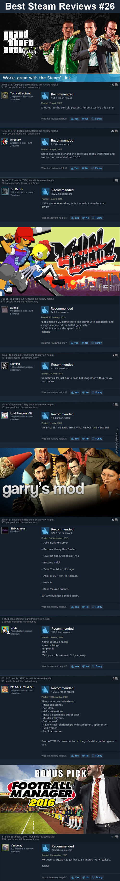 "Best Steam Reviews #26 - ""work, Work"""