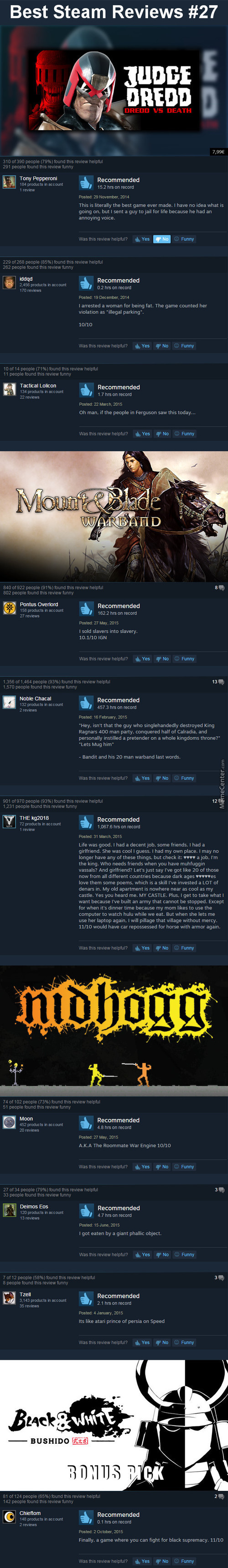 Best Steam Reviews #27 - I Am The Law