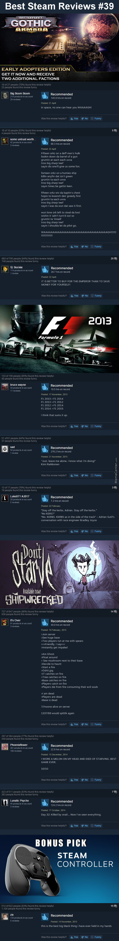 Best Steam Reviews #39 - Spaceship Porn Is Best