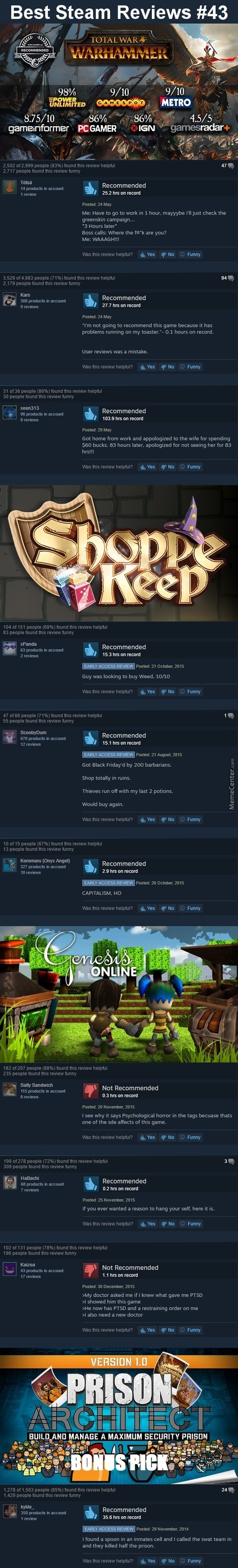 Best Steam Reviews #43 - More Waaaaaaaagh
