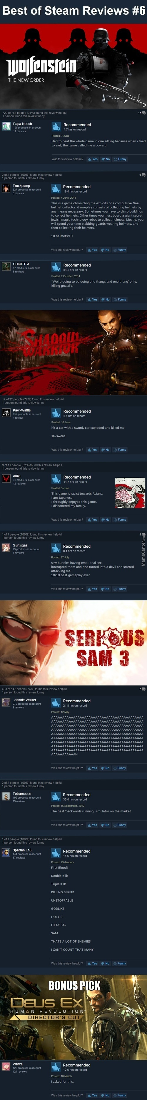 Best Steam Reviews #6 - Single Player Fps