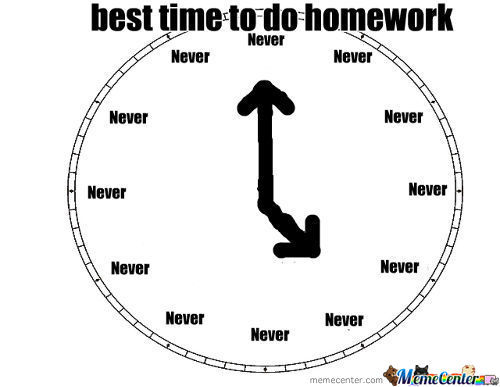 Best Time To Do Homework