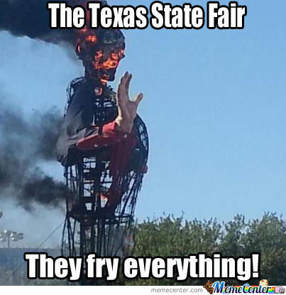Big Tex Gets Fried!