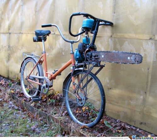 Bike for zombie apocalypse - Seems legit