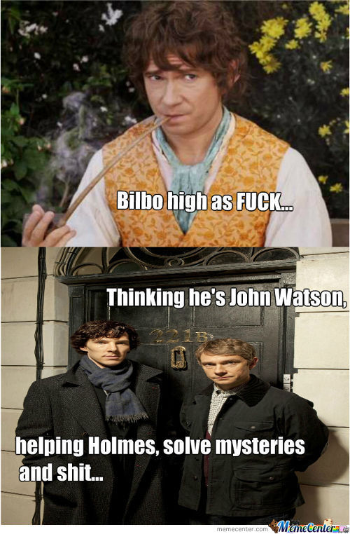 Bilbo High As Fuck