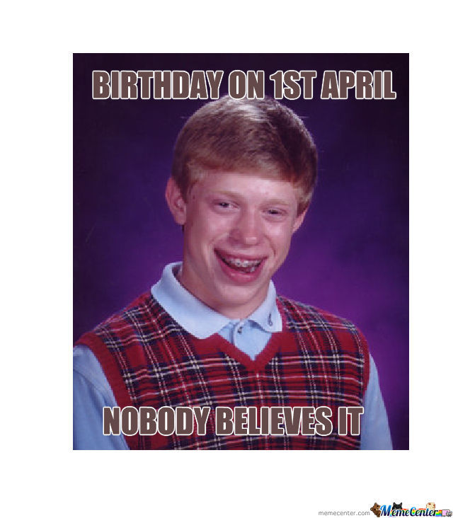 Birthday On 1St April
