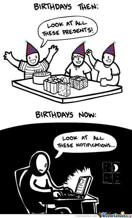 Birthdays... Now And Then..