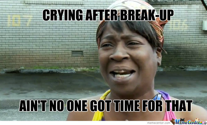 Crying after break up