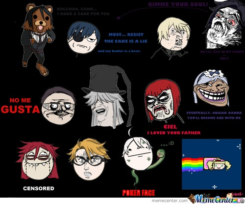 Black Butler Meme Faces