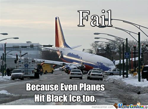 Black Ice Fail