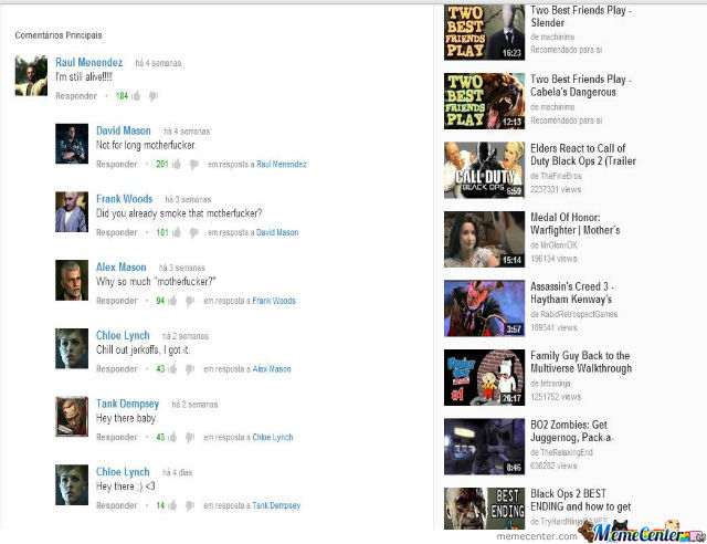 Black Ops 2 Characters On Youtube
