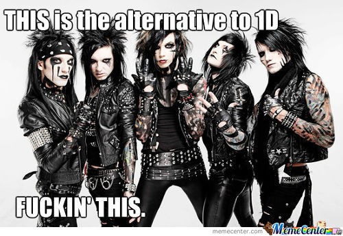 Black Veil Brides, One Direction, Who Cares...they Are Both Fags