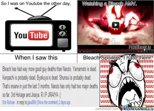 Bleach Spoilers,now On Youtube.