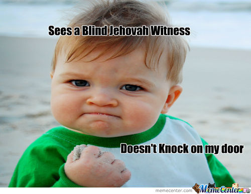 Blind Jehovah Witness