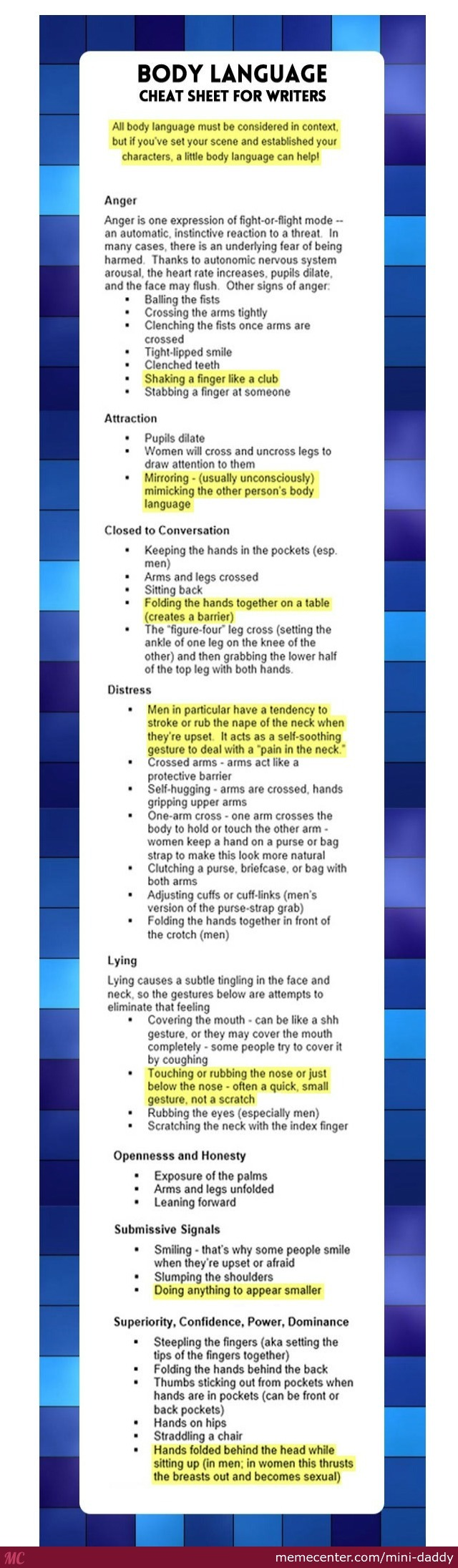 English Essay Cheat Sheet