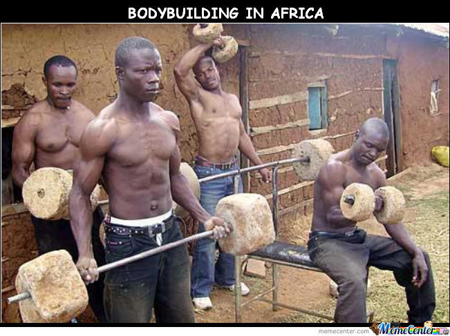 Bodybuilding In Africa.