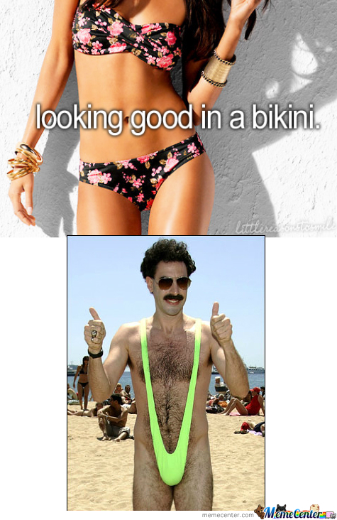 Borat Agrees Bikini Is Sexsay
