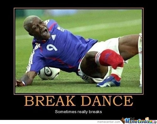 Break Dance - No Football For Him