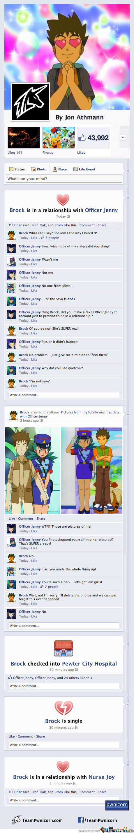 Brock And Officer Jenny Make It Facebook Official