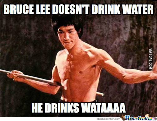 Bruce Lee Drinks Wataa