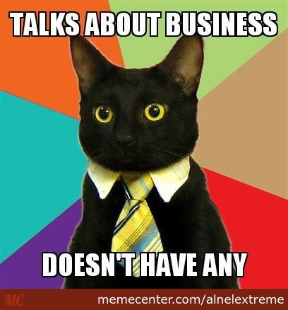 Businessless Cat