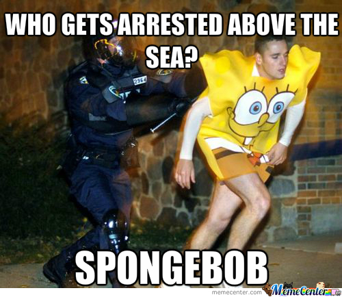 But Officer I'm The Real Spongebob