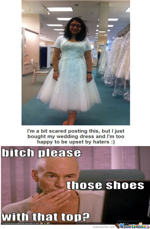 But Picard She's Not Wearing Shoes