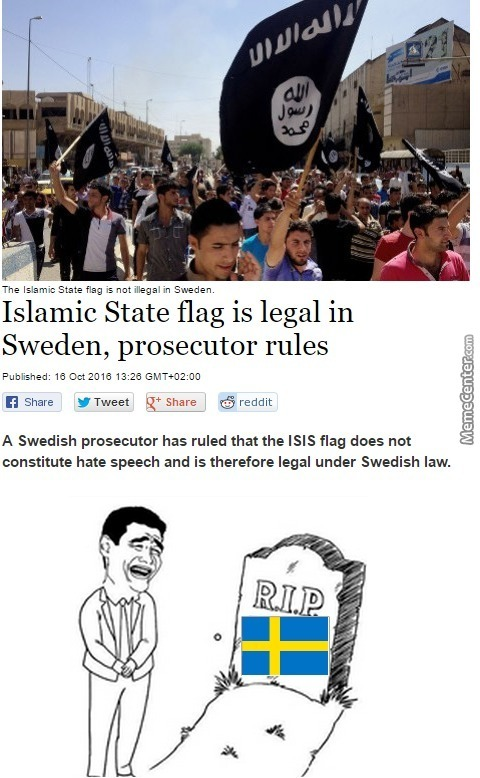 "But Swedish Flag Is ""neonazi"""