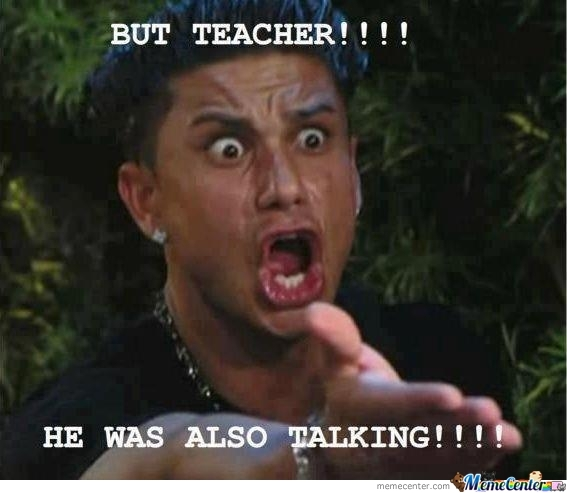 But Teacher!!