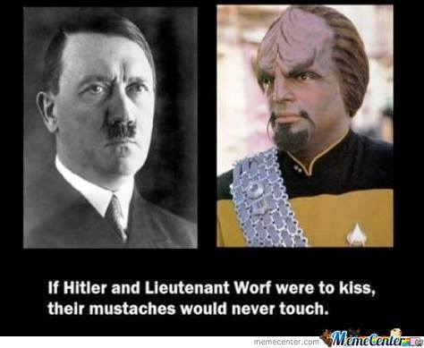 But What If The Lieutenant Worf Decide To Suck Hitlers Nose?